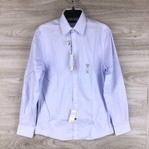 Tommy Hilfiger Non-iron Blue Stripe Dress Shirt